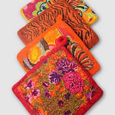 Ganesh Himal Cotton & Felt Floral Potholder
