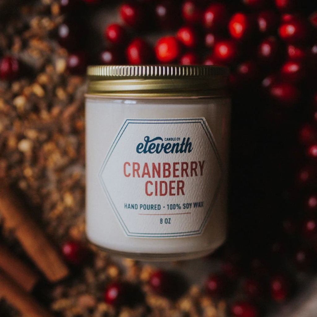Eleventh Candle Co Cranberry Cider Candle 8oz