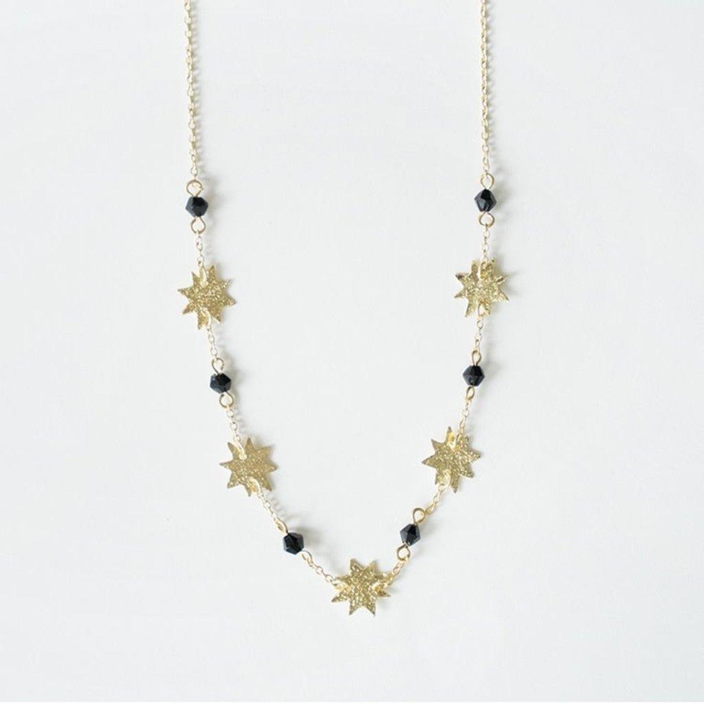 Mata Traders Austen Brass Star Necklace