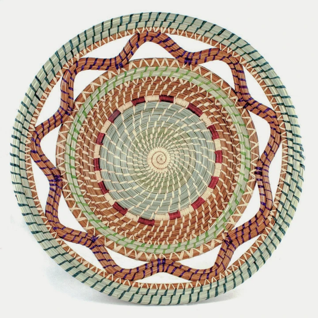 Mayan Hands Celestina Pine Needle Basket