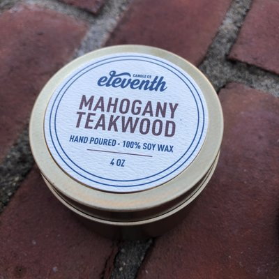 Eleventh Candle Co Mahogany Teakwood Candle 4oz