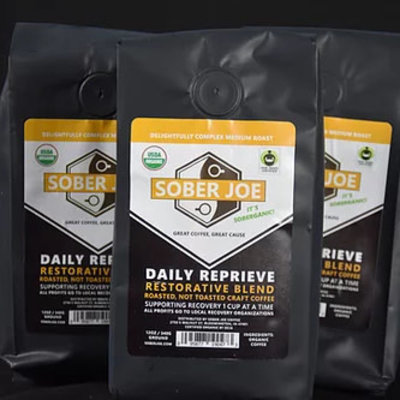 Sober Joe Coffee Daily Reprieve 100% Peruvian Organic Ground Coffee