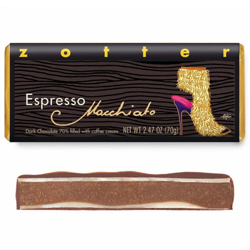 Zotter Chocolate Espresso Macchiato Dark Chocolate