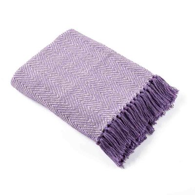 Serrv Cotton Rethread Lavender Throw Blanket