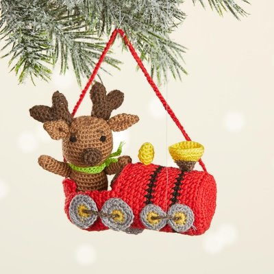 Serrv Conductor Moose 2-Piece Ornament