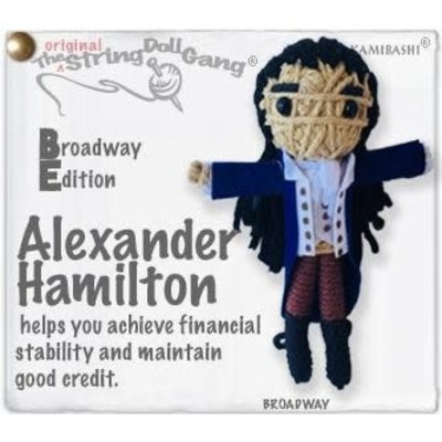 Kamibashi Alexander Hamilton String Doll Keychain (Broadway Edition)