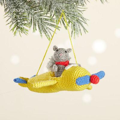 Serrv Pilot Squirrel 2-Piece Ornament