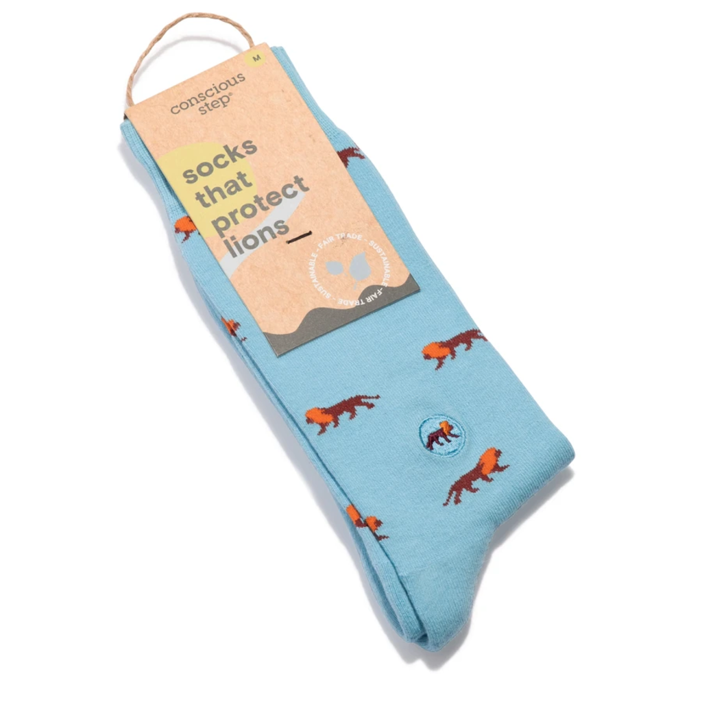 Conscious Step Socks that Protect Lions