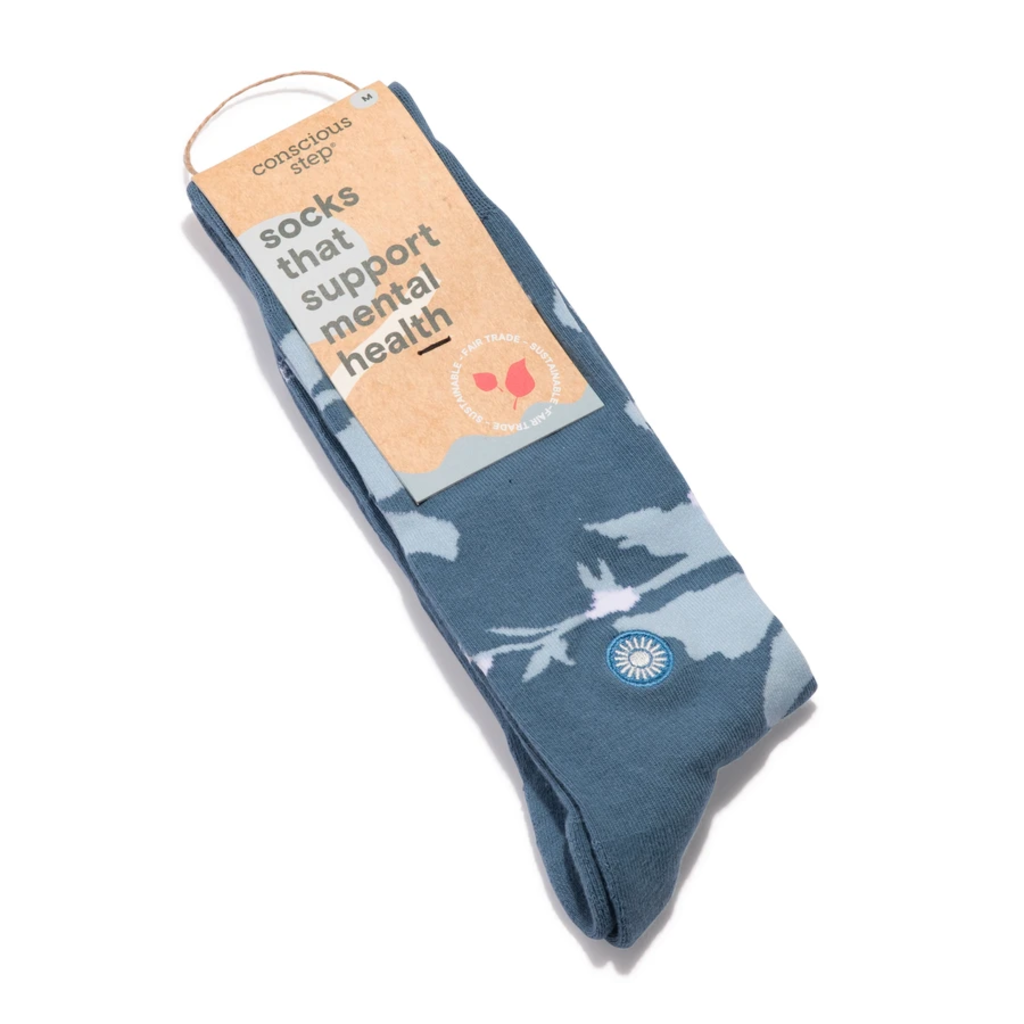 Conscious Step Socks that Support Mental Health Floral