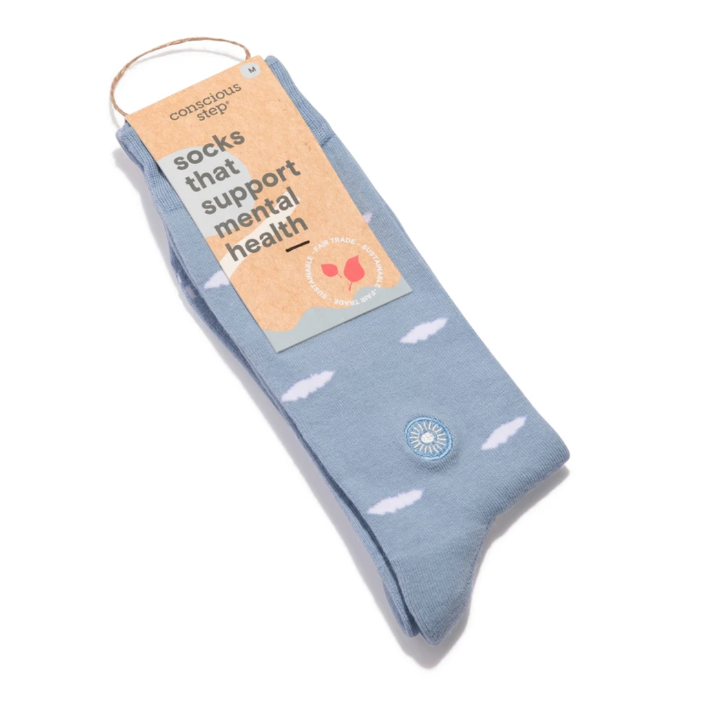 Conscious Step Socks the Support Mental Health: Clouds