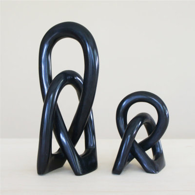 Venture Imports Large Wedding Knot Sculpture Black
