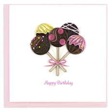 Quilling Card Cake Pops Quilled Birthday Card