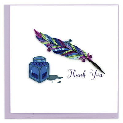 Quilling Card Quill & Ink Quilled Thank You Card