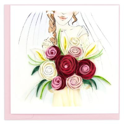 Quilling Card Bridal Bouquet Congratulations Card