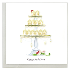 Quilling Card Cupcake Tower Quilled Wedding Card