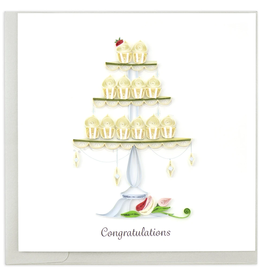 Quilling Card Cupcake Tower Wedding Card