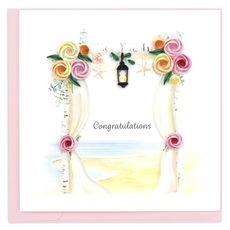 Quilling Card Wedding Chuppah Quilled Congratulations Card