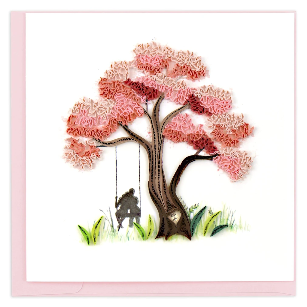 Quilling Card Blossoming Love Tree Quilled Card