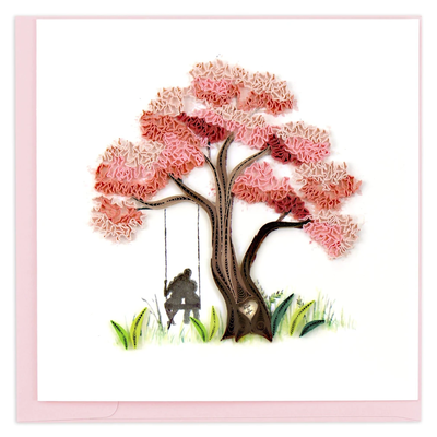 Quilling Card Blossoming Love Greeting Card