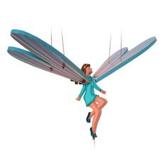 Tulia's Artisan Gallery Flying Mobile: White Fairy
