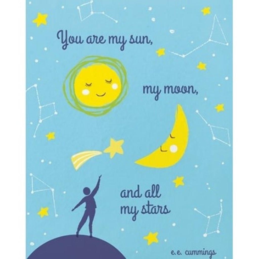 Good Paper Sun Moon & Stars Greeting Card