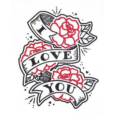 Good Paper Tattoo Love Greeting Card
