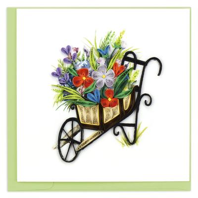Quilling Card Wheelbarrow Garden Greeting Card