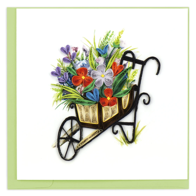 Quilling Card Wheelbarrow Garden Quilled Card