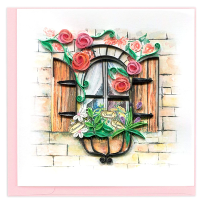 Quilling Card Herb Garden Greeting Card