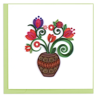 Quilling Card Terracotta Bouquet Greeting Card