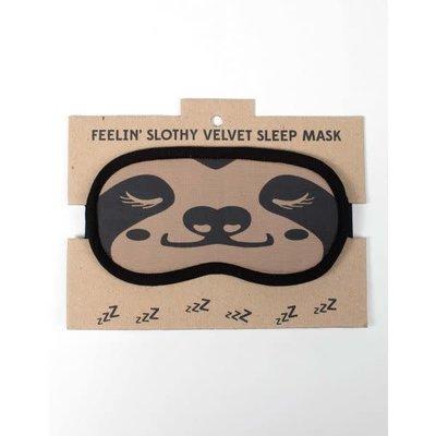 Ten Thousand Villages Sloth Velvet Sleeping Mask