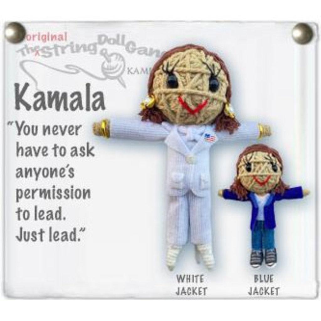 Kamibashi Kamala Blue Jacket String Doll Keychain