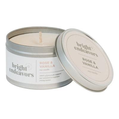 Bright Endeavors Rose & Vanilla 8oz Tin Candle