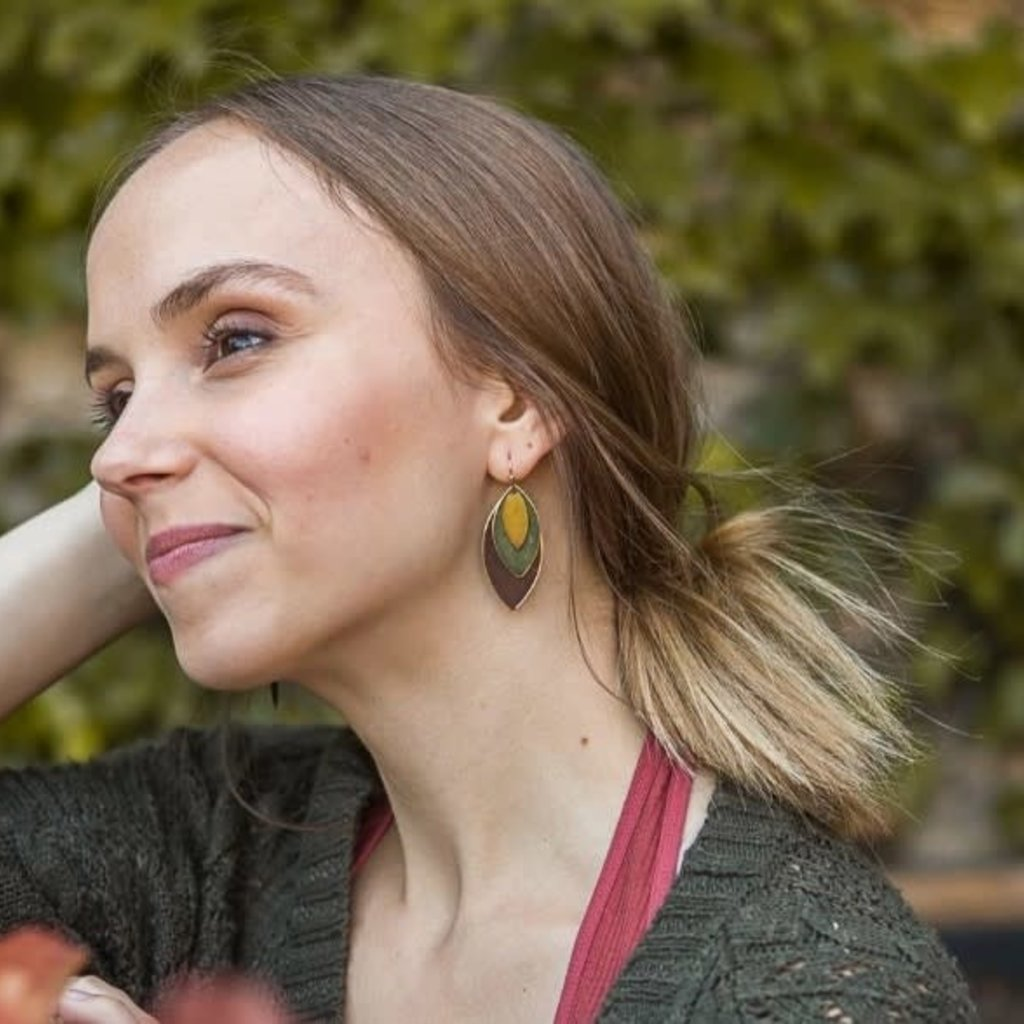 Fair Anita Autumnal Tones Leaf Earrings