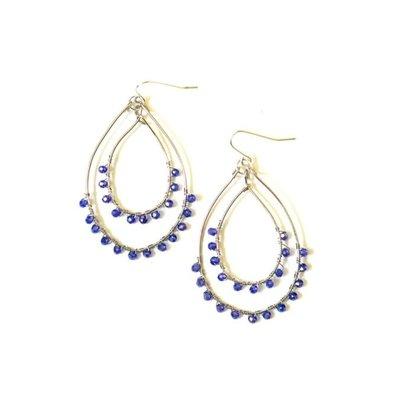 Fair Anita Rubi Sparkle Silver Teardrop Earrings