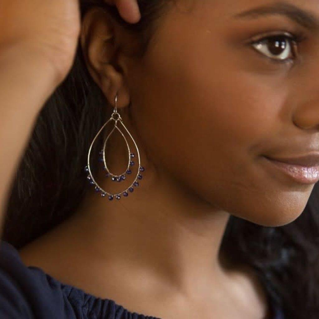 Fair Anita Rubi Sparkle Teardrop Earrings