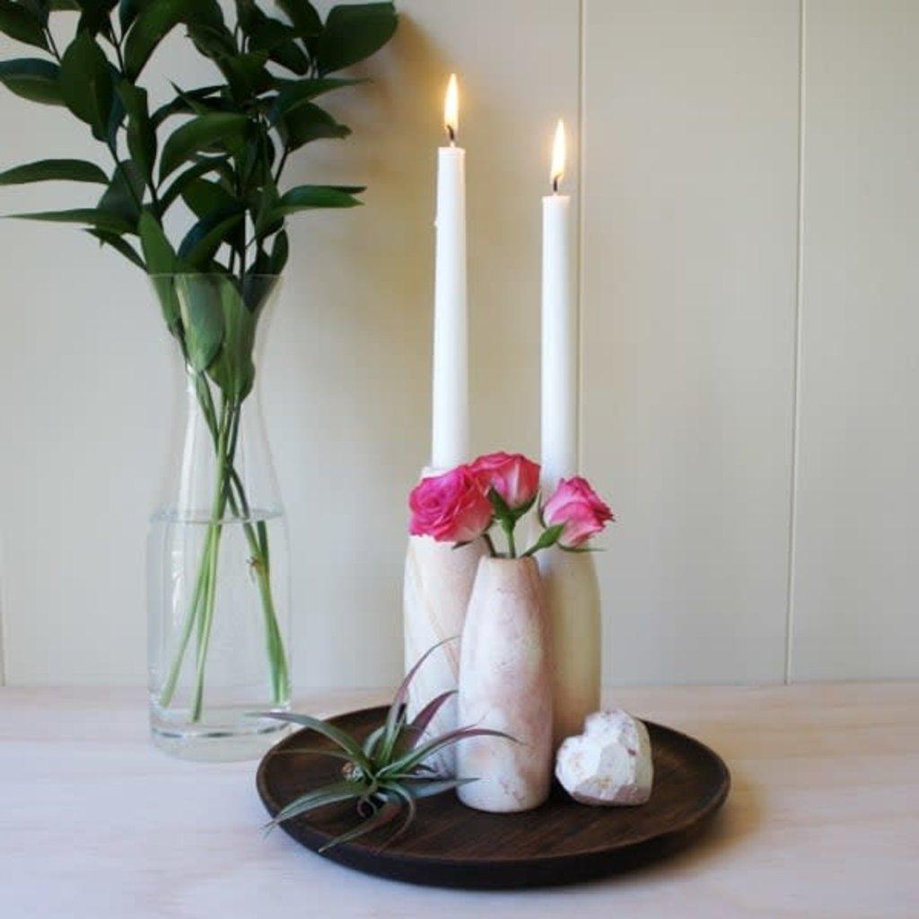 Venture Imports Kisii Natural Candleholder/Bud Vase Large