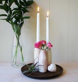 Venture Imports Kisii Natural Candleholder/Bud Vase Small