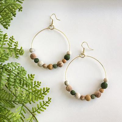 World Finds Kantha Terai Hoop Earrings
