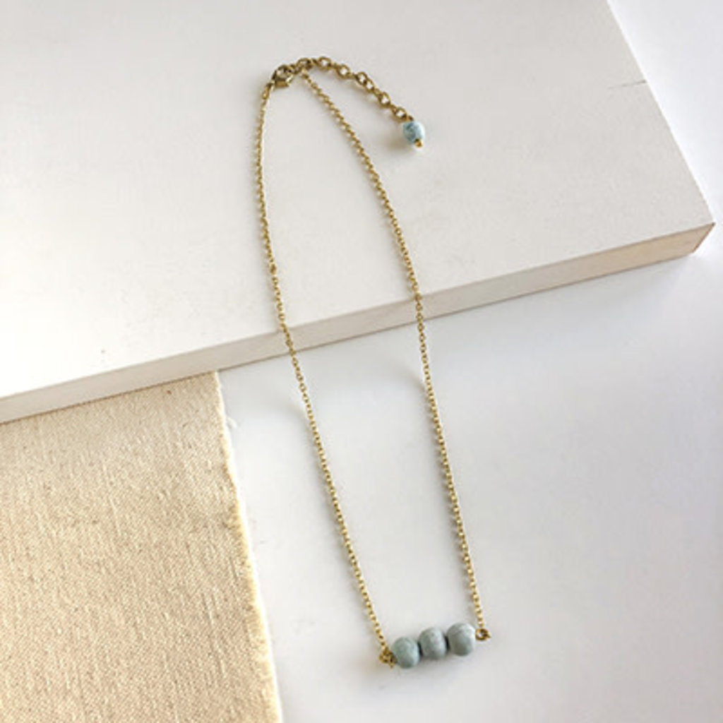 World Finds Blue Skies Pendant Necklace