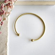 World Finds Persephone Brass Cuff