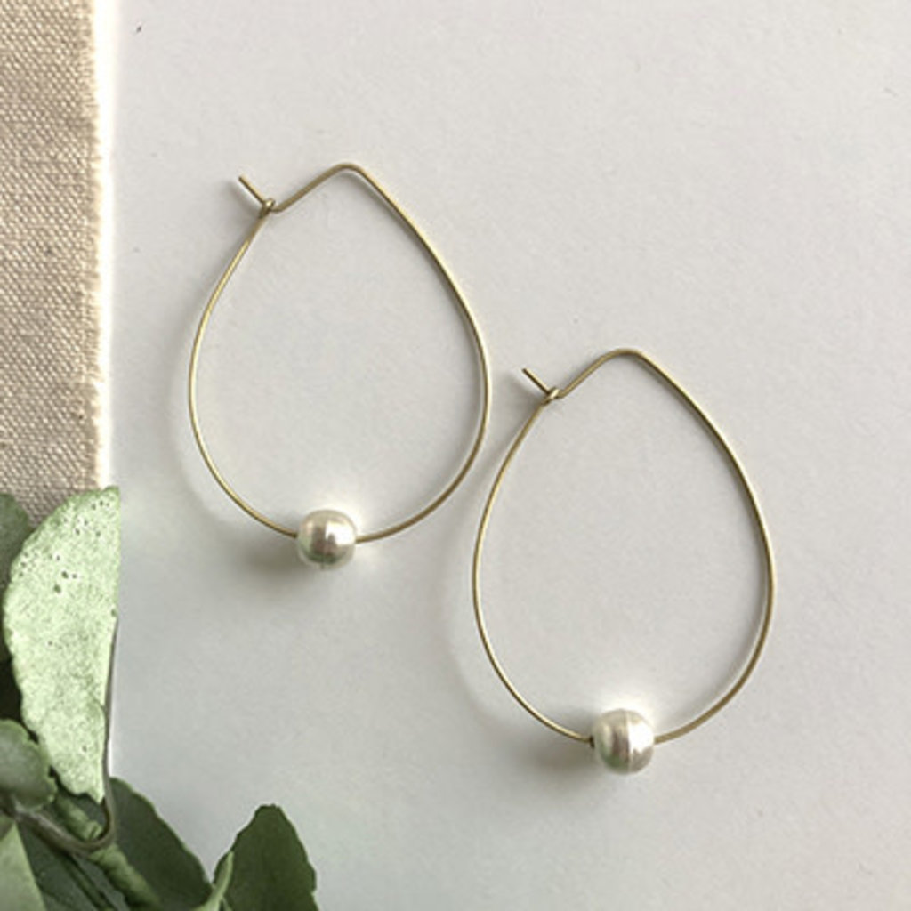 World Finds Ethereal Bead Hoop Earrings