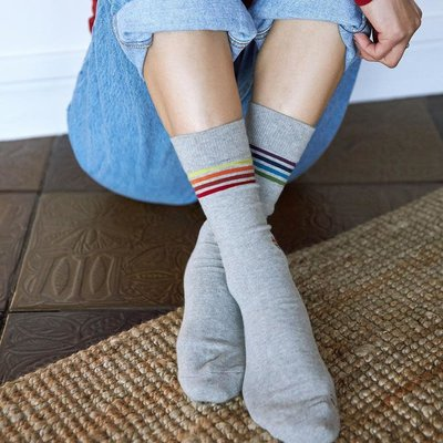 Conscious Step Socks that Save LGBTQ Lives: Grey