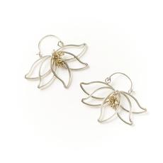 Matr Boomie Kairavini Lotus Hoop Earrings