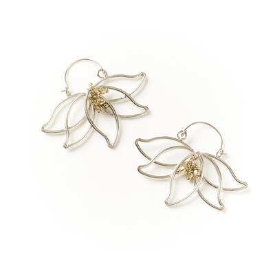 Matr Boomie Kairavini Lotus Hoop Earrings