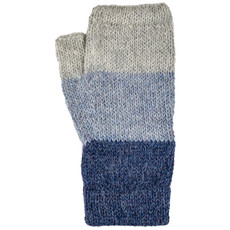 Andes Gifts Tres Alpaca Wrist Warmers: Blue