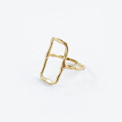 Mata Traders Natasha Rectangle Brass Ring