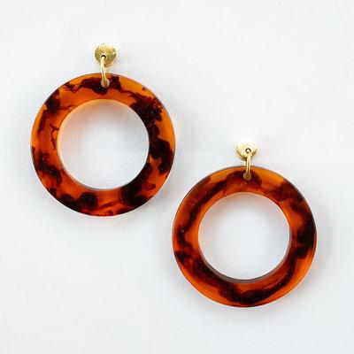 Mata Traders Abilene Hoop Tortoiseshell Earrings