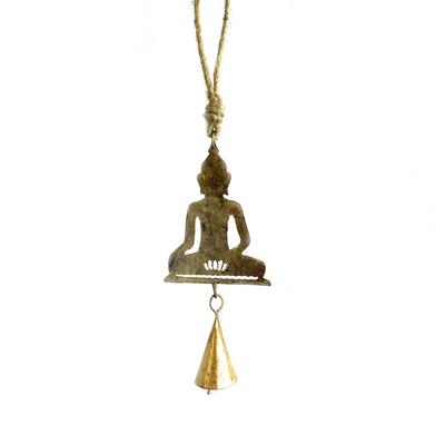 Mira Fair Trade Mini Buddha Recycled Metal Chime