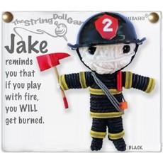 Kamibashi Jake Fireman String Doll Keychain